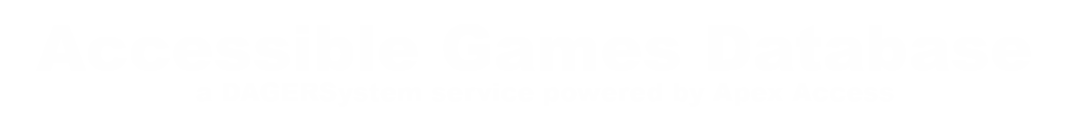 Accessible Games Database